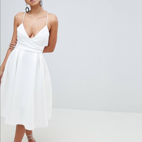 48d6138b1503 ASOS Dresses   Skirts - ASOS Design scuba cami prom midi dress